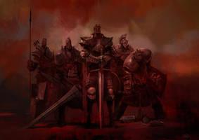 Red Bishops by SvetoslavPetrov
