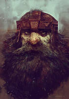 Member of the mountain clans -Disciples II fan art by SvetoslavPetrov