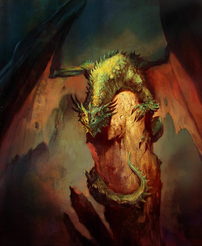 Green dragon by SvetoslavPetrov