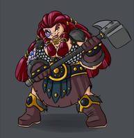 Dwarf female by Lordstevie
