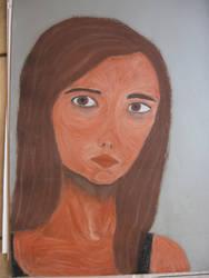 Conte Self Portrait by Captn-Shamrock