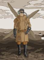 Kite man by Chiaotzu