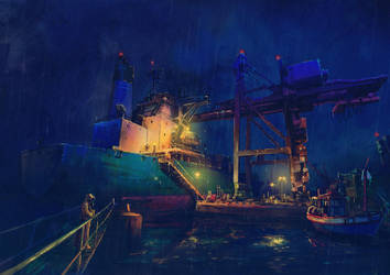 Rotterdam sea port by Chiaotzu