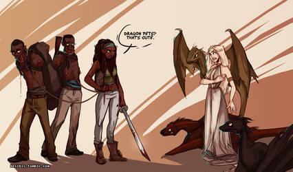 Michonne vs Daenerys by beiibis