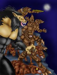 Heroscape Werewolves by Darkenlite