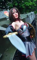 Injustice cosplay Wonder Woman Soviet Union by Nemu013