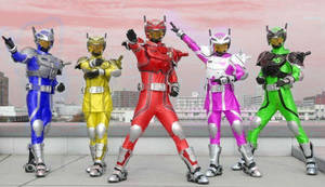 Power Rangers Rescue Fighters by 99trev
