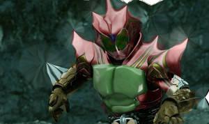 Kamen Rider Amazon- Fury King Form by 99trev