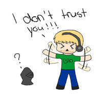 Chibi Pewds- I don't trust you! by WolfRider64