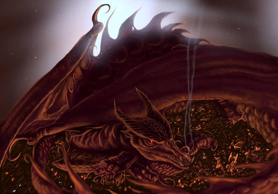 Smaug- The hobbit by AizakMoon