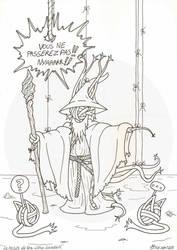 La pelote du Nya-Cthu Gandalf - Encrage by Raanana