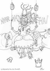 La pelote de la Nya-Cthu Bowsette - encrage by Raanana