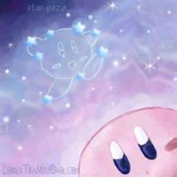 Star gazing Kirby by tira-chan