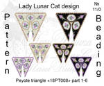 Peyote triangle 18PT008 part 1-6 by LadyLunarCat