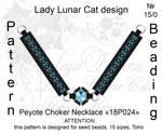 Peyote choker necklace 18P024 by LadyLunarCat