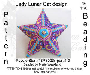 Peyote star 18PS023 part 1-3 by LadyLunarCat