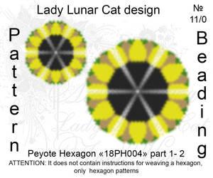 Peyote hexagon 18PH004 part 1-2 by LadyLunarCat