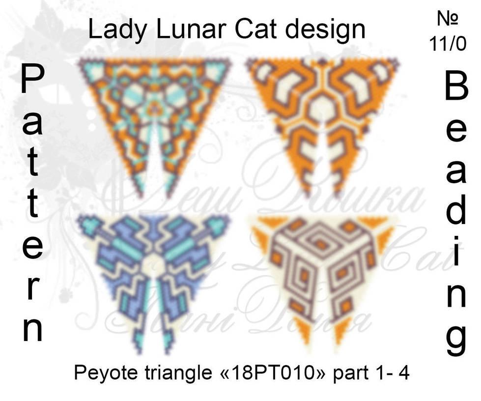 Peyote triangle 18PT010 part 1-4 by LadyLunarCat
