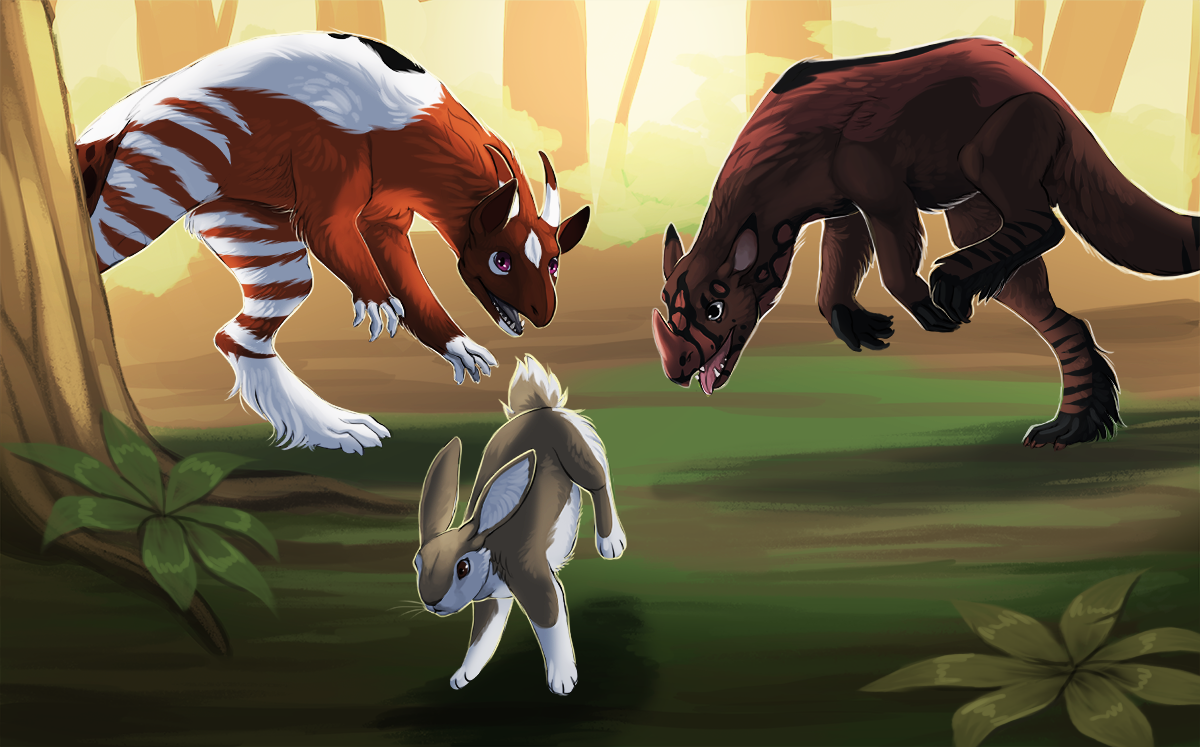 Hunting Rabbit by little-owlette