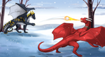 Snowball fight! by little-owlette