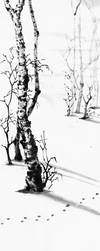 [Sumie] Winter landscape by bsshka