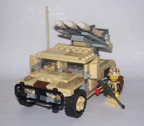 Humvee Missile Battery by Brickule