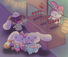 Cinnamoroll Request for coffeebiscotti by LapisRabbitComics