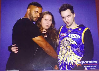 Ricky Whittle and Richard Harmon Photo by carrie-lou