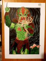 the predator fending off a facehugger  by yorkshirepudding1990