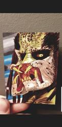 Unmasked fugitive predator ACEO  by yorkshirepudding1990