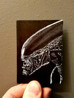 Alien warrior ACEO  by yorkshirepudding1990