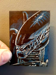 alien aceo #83 by yorkshirepudding1990