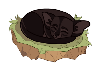 Briarpaw sleeping by Purrfectpal