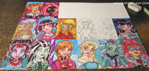 Monster High Frozen ATC by MaryBellamy