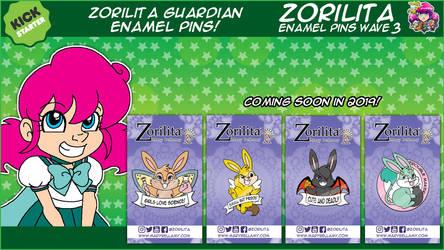 Zorilita Guardian Enamel Pins Kickstarter by MaryBellamy