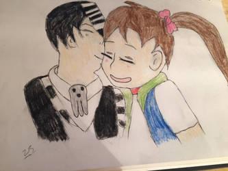 Death Kid and Tatsu OC by ZinniaSnowdrop