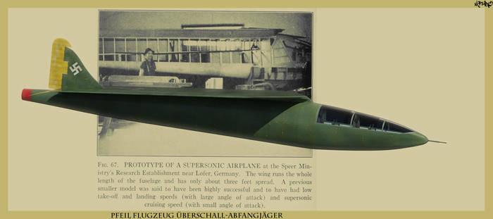 Pfeil Flugzeug abstract presentation by HamzaLippisch