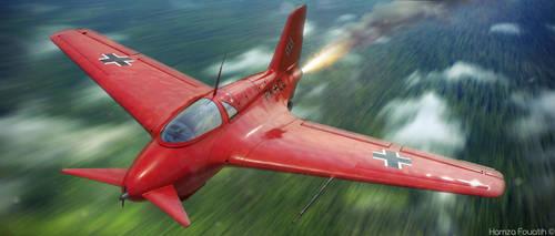 An angry bird - Messerschmitt Me 163B by HamzaLippisch