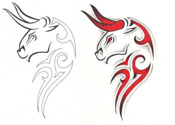 Freebies Taurus Tattoo Design by TattooSavage