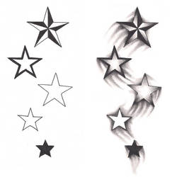 Freebies Shooting Stars Tattoo Design by TattooSavage