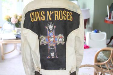 Guns N Roses Denim Jacket by keri-lynn