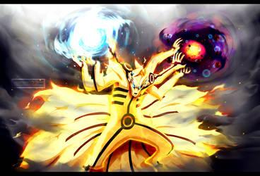 Naruto chapter 696 - Kurama's Ashura Mode by Kortrex