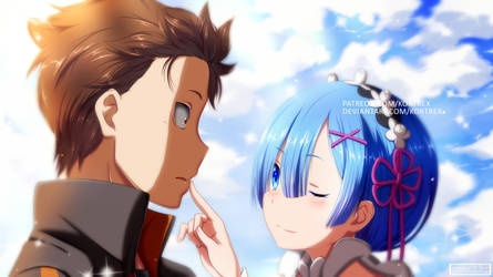 Re:ZERO - Rem and Subaru by Kortrex