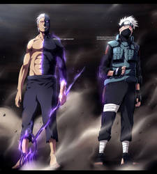[COLLAB] Obito and Kakashi by Kortrex