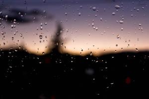 Raindrops on a window by Hrasulee