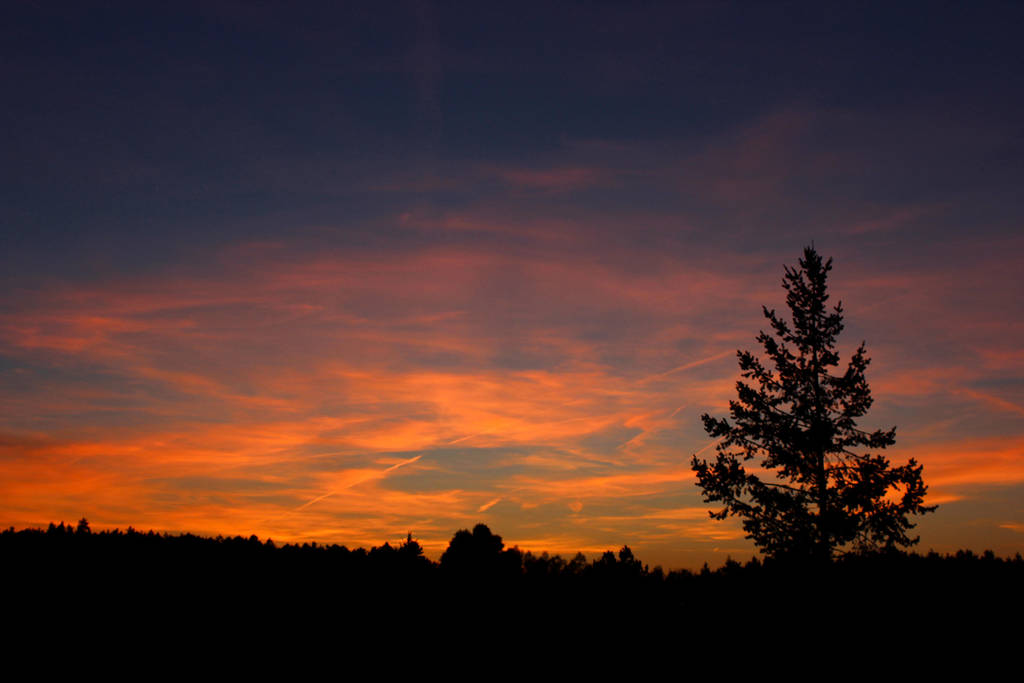 Red and Purple Sunset by Hrasulee