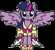Twilight Sparkle Princess Pixel by WoWFluttershy