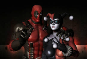 Harley Quinn and Deadpool:D by Doppelanger
