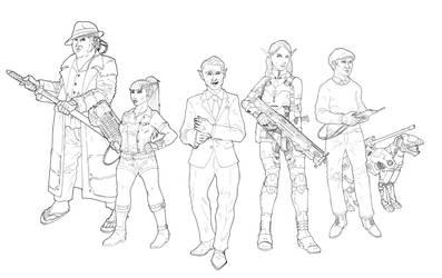 Shadowrun Crew by Saevus