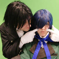 Ciel Phantomhive and Sebastian by Miru-sama